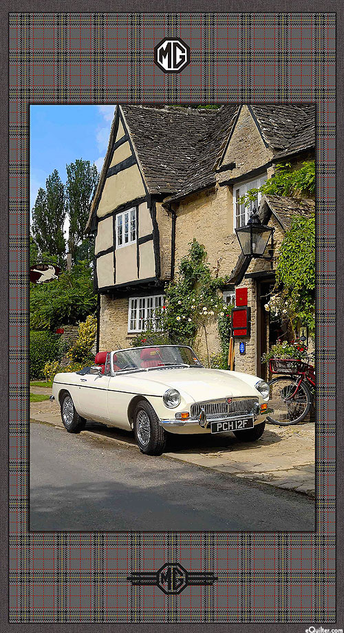 "MG British Motor Cars - Country Roadster - 24"" x 44"" PANEL"