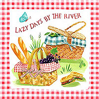 Picnic by the Lake by Louise Nisbet