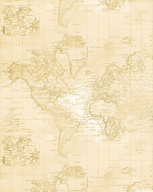 World Traveler - Sea Navigation - Warm Beige - DIGITAL PRINT