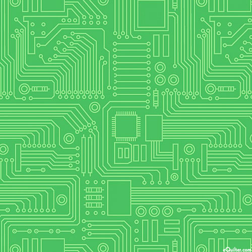 Stem Squad - Circuit Board - Lime Green