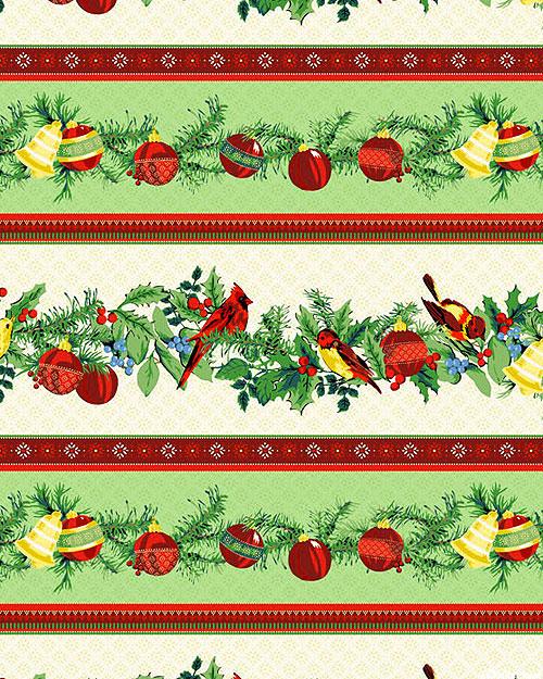 Joyful - Ornament Decor Stripe - Multi/Gold