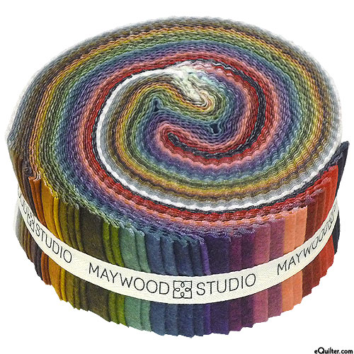 """Woolies - Color Wash Flannel - 2 1/2"""" Strips"""