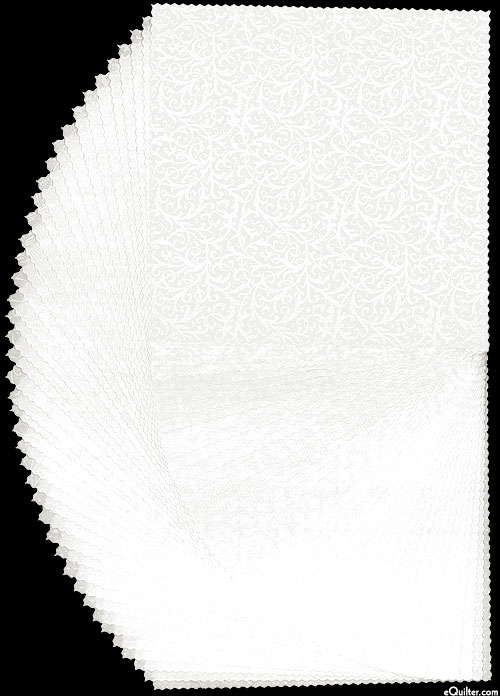 "Pearl Essence - White/Pearl - 10"" Squares"