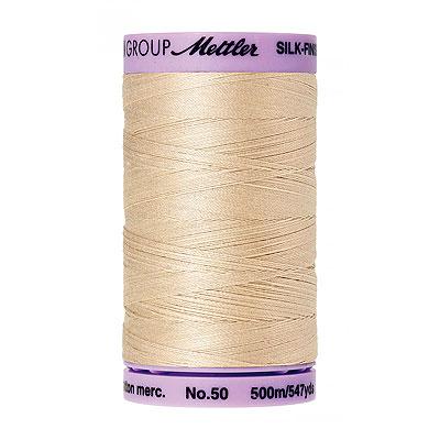 Cream - Mettler Silk Finish Cotton Thread - 547 yd - Eggshell