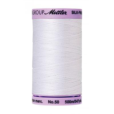Basic - Mettler Silk Finish Cotton Thread - 547 yd - White