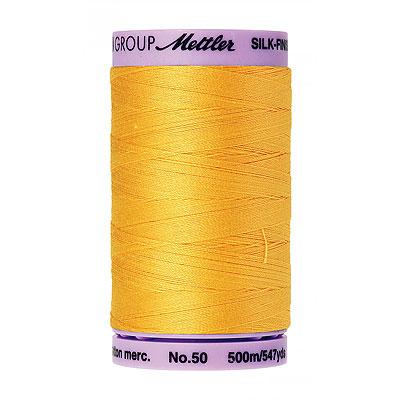 Gold - Mettler Silk Finish Cotton Thread - 547 yd - Bt Yellow