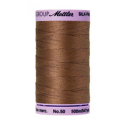 Brown - Mettler Silk Finish Cotton Thread - 547 yd - Hazelnut