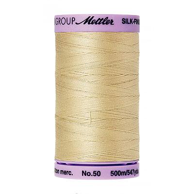 Cream - Mettler Silk Finish Cotton Thread - 547 yd - Ivory