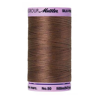 Brown - Mettler Silk Finish Cotton Thread - 547 yd - Beige Brown