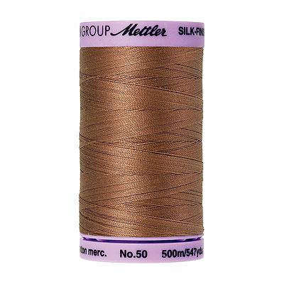 Brown - Mettler Silk Finish Cotton Thread - 547 yd - Nougat