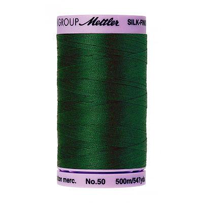 Green - Mettler Silk Finish Cotton Thread - 547 yd - Spruce