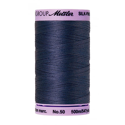 Blue - Mettler Silk Finish Cotton Thread - 547 yd - Dk Blue Grey