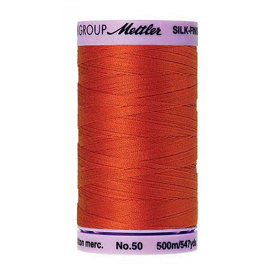 Orange - Mettler Silk Finish Cotton Thread - 547 yd - Dk Orange