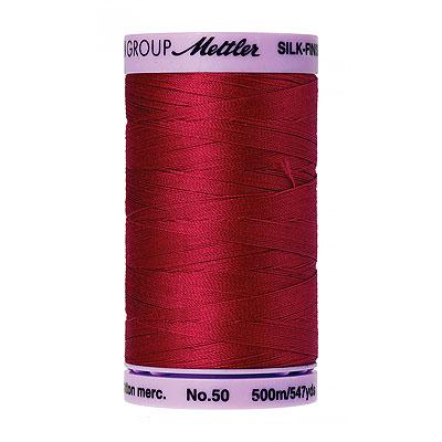 Red - Mettler Silk Finish Cotton Thread - 547 yd - Red