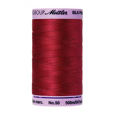 Red - Mettler Silk Finish Cotton Thread - 547 yd - Fire Engine