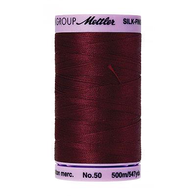 Burgundy - Mettler Silk Finish Cotton Thread - 547 yd - Wine
