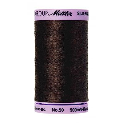 Brown - Mettler Silk Finish Cotton Thread - 547 yd - Raisin