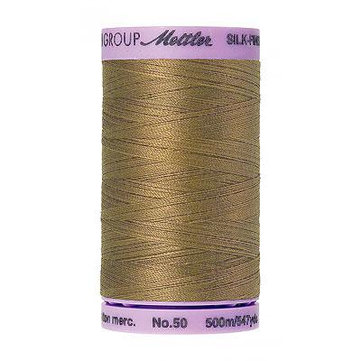 Brown - Mettler Silk Finish Cotton Thread - 547 yd - Khaki