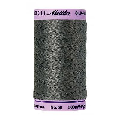 Gray - Mettler Silk Finish Cotton Thread - 547 yd - Old Tin