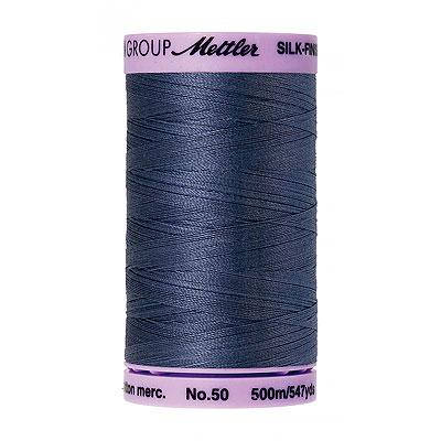 Blue - Mettler Silk Finish Cotton Thread - 547 yd - Wedgewood