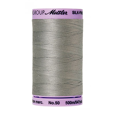 Gray - Mettler Silk Finish Cotton Thread - 547 yd - Titan Gray