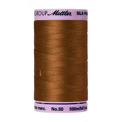 Brown - Mettler Silk Finish Cotton Thread - 547 yd - Redwood
