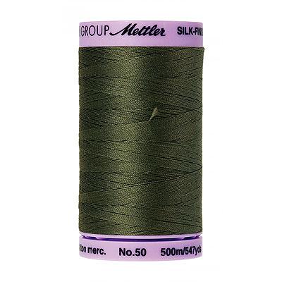 Green - Mettler Silk Finish Cotton Thread - 547 yd - Moss