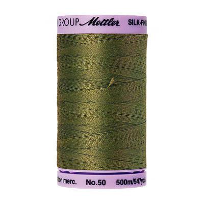 Green - Mettler Silk Finish Cotton Thread - 547 yd - Herbal