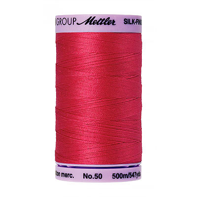 Pink - Mettler Silk Finish Cotton Thread - 547 yd - Tulip