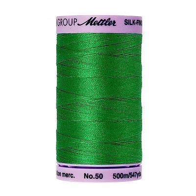 Green - Mettler Silk Finish Cotton Thread - 547 yd - Swiss Ivy