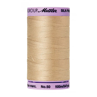 Beige - Mettler Silk Finish Cotton Thread - 547 yd - Buff