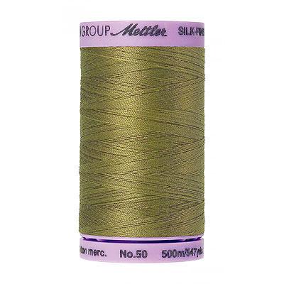 Green - Mettler Silk Finish Cotton Thread - 547 yd - Olive Drab