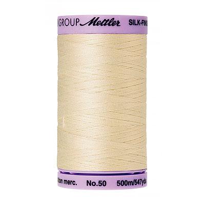 Cream - Mettler Silk Finish Cotton Thread - 547 yd - Blush White