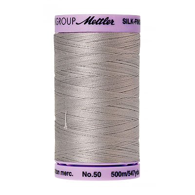 Gray - Mettler Silk Finish Cotton Thread - 547 yd - Pearl Gray