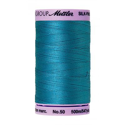 Blue - Mettler Silk Finish Cotton Thread - 547 yd - Caribbean