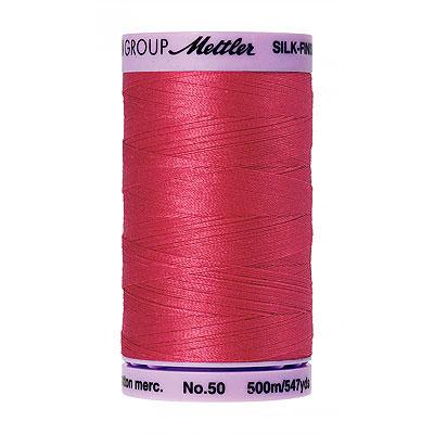 Pink - Mettler Silk Finish Cotton Thread - 547 yd - Currant