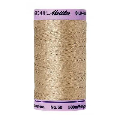 Beige - Mettler Silk Finish Cotton Thread - 547 yd - Beige