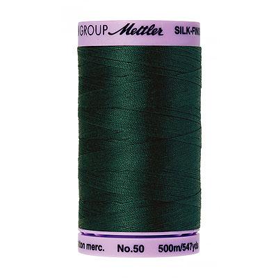 Green - Mettler Silk Finish Cotton Thread - 547 yd - Scots Green