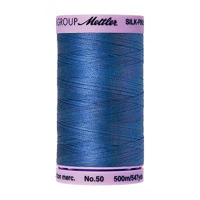 Blue - Mettler Silk Finish Cotton Thread - 547 yd - Snorkel