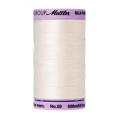 Basic - Mettler Silk Finish Cotton Thread - 547 yd- Winter White
