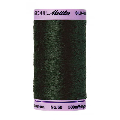 Green - Mettler Silk Finish Cotton Thread - 547 yd - Dk Green