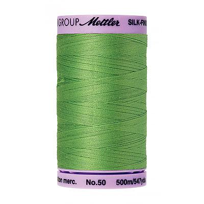 Green - Mettler Silk Finish Cotton Thread - 547 yd - Spearmint