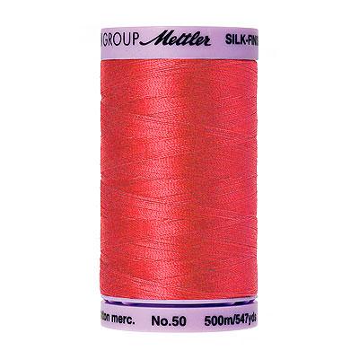 Pink - Mettler Silk Finish Cotton Thread - 547 yd - Geranium
