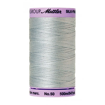 Blue - Mettler Silk Finish Cotton Thread - 547 yd - Lt Blue Gray