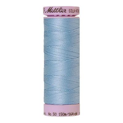 Blue - Mettler Silk Finish Cotton Thread - 164 yd - Azure