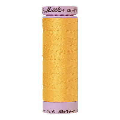 Yellow - Mettler Silk Finish Cotton Thread - 164 yd - Yellow
