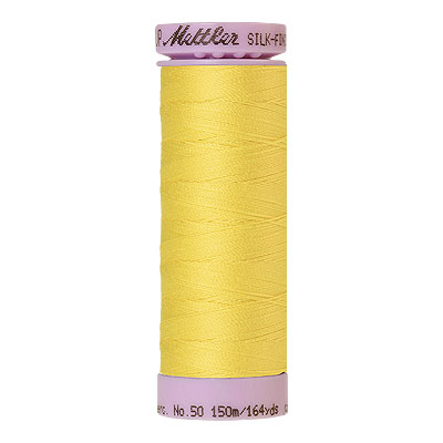 Yellow - Mettler Silk Finish Cotton Thread - 164 yd - Canary
