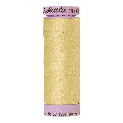 Yellow - Mettler Silk Finish Cotton Thread - 164 yd - Butter