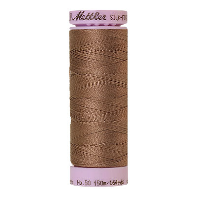 Brown - Mettler Silk Finish Cotton Thread - 164 yd - Beige Brown