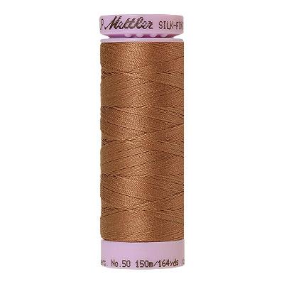 Brown - Mettler Silk Finish Cotton Thread - 164 yd - Nougat